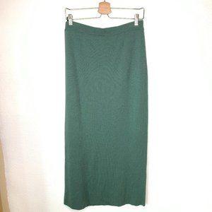 Vintage Eileen Fisher Sage Green Wool Ribbed Skirt